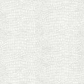 Vliesbehang krokodillenleermotief wit (dessin 32-660)