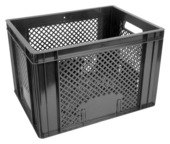 Fietskrat zwart 40x30x26 cm