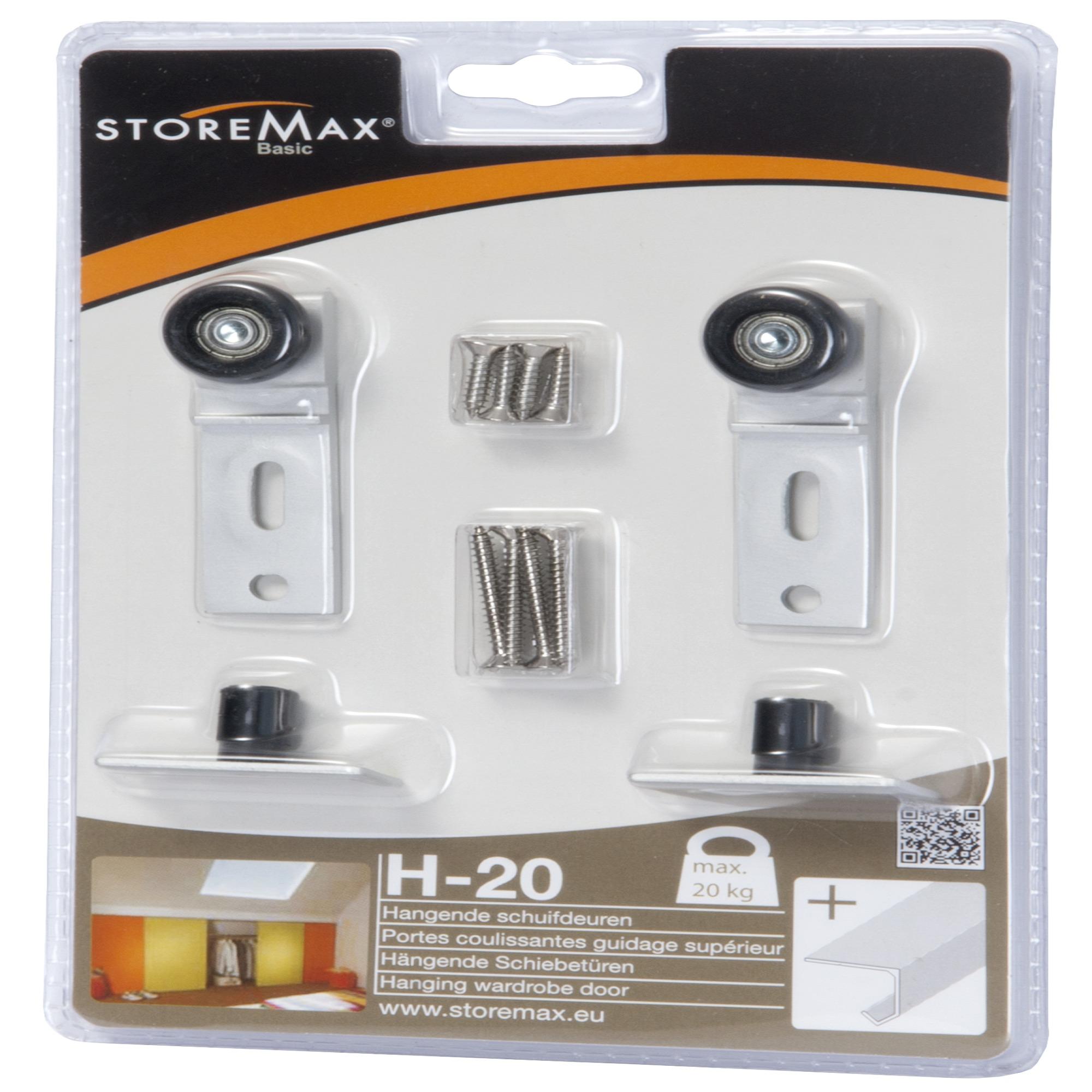 Storemax wielenset schuifdeur H20   Schuifrailsystemen   Meubelbeslag  u0026 accessoires   IJzerwaren