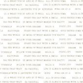 vliesbehang tekst goud (dessin 33-143)