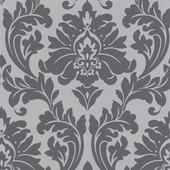 Vliesbehang barok grijs (dessin 30-437)