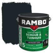 Rambo Pantserbeits Schuur & Tuinhuis zijdeglans antraciet dekkend 2,5 l