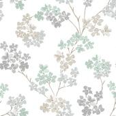 Vliesbehang bloesem zachtgroen (dessin 2258-51)