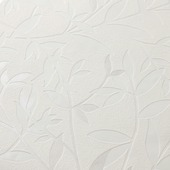 Vliesbehang blad wit (dessin 32-371)