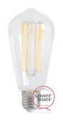 Snoerboer LED-filament edison 4W E27 dimbaar clear glass