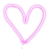 Ledlicht hart roze 35x35 cm