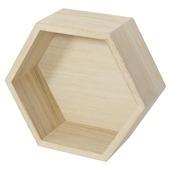 B!Organised hexagon pawlonia 27x27 cm