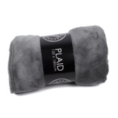 Plaid fleece donkergrijs 130x180 cm