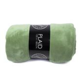 Plaid fleece vergrijsd groen 130x180 cm