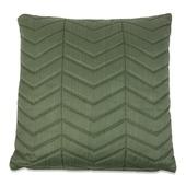 Kussen padded zigzag olijfgroen 45x45 cm