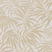 Vliesbehang tropisch  taupe - goud (dessin 100529)