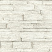 Vliesbehang steenstrip beige (dessin 103452)