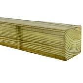 Tuinpaal geschaafd ca. 6,8x6,8 cm, lengte 210 cm