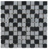 Mozaiek Wit/Zw/Grs 30X30CM 1St