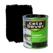 CetaBever tuinbeits zwart dekkend 750 ml