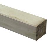 Steunpaal Grenen ca. 9x9 cm, lengte 270 cm