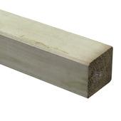 Steunpaal Grenen ca. 9x9 cm, lengte 360 cm