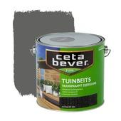 CetaBever tuinbeits antraciet transparant 2,5 l