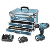 Makita accuschroefboormachine DF457DWEX6 met 102-delige accessoireset