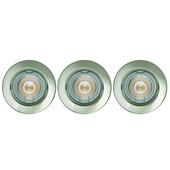 KARWEI inbouwspot LED richtbaar rond staal 3 stuks