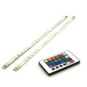 Prolight LED-strips gekleurd 30 cm met afstandsbediening (IP44) 2 stuks