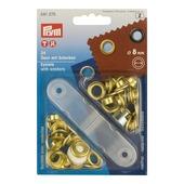 Ringen 8mm messing 24 stuks