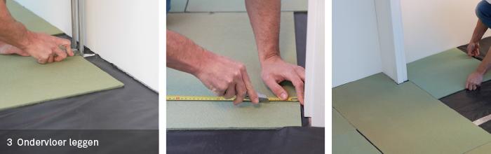 Isoboard ondervloer leggen